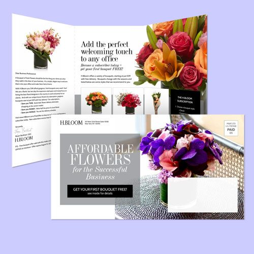 H Bloom self mailer