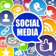 Social Media Background with Speech Bubbles