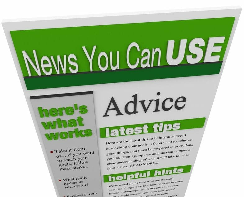 Advice eNewsletter Tips Hints Support Ideas Newsletter