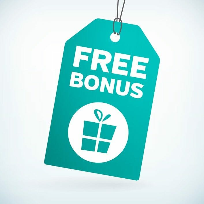 Free bonus gift tag