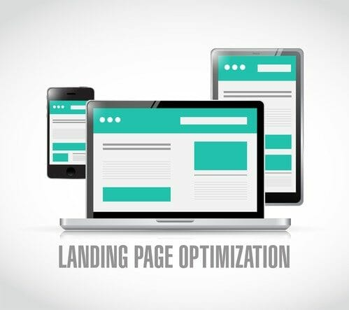 landing page optimization concept illustration
