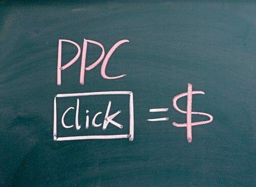 PPC,pay per click written on blackboard
