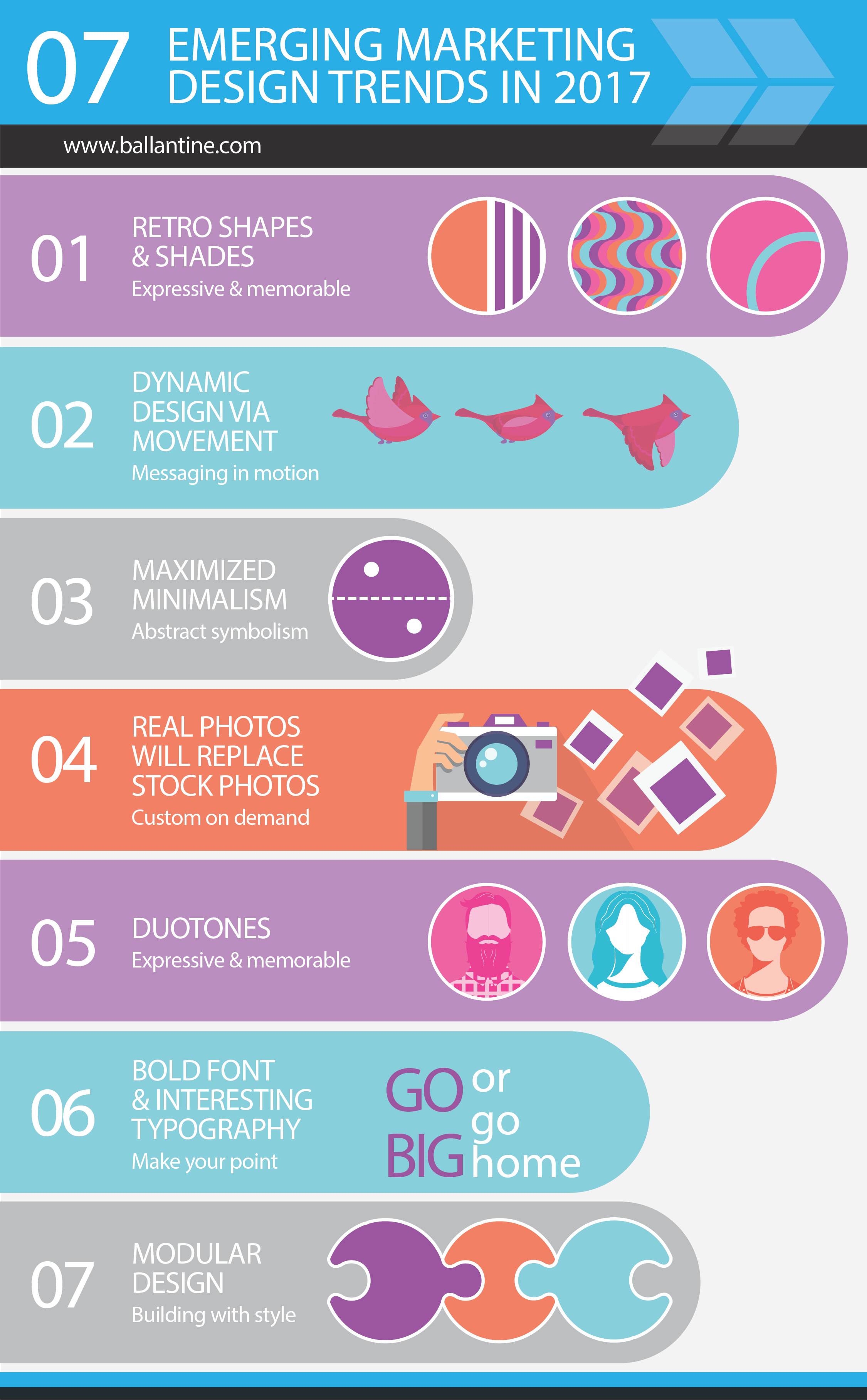 7 Emerging Marketing Design Trends in 2017 [Infographic]