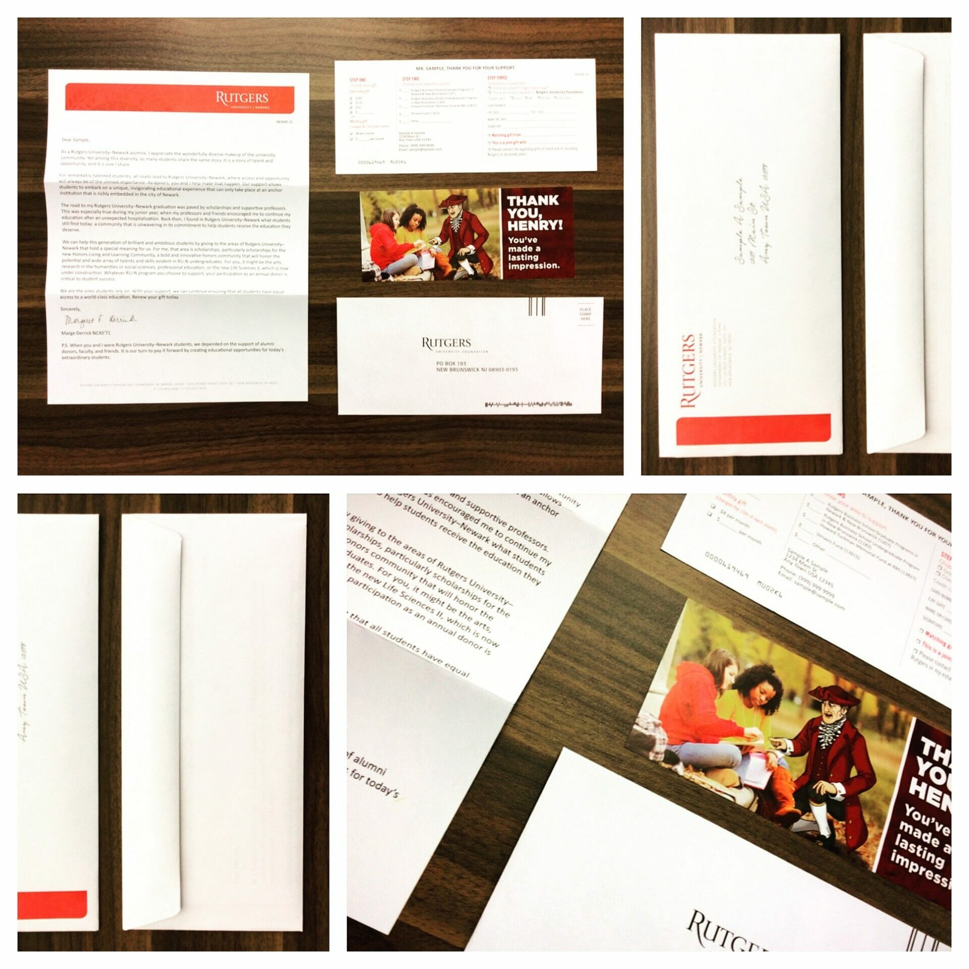 Nonprofit Direct Mail example
