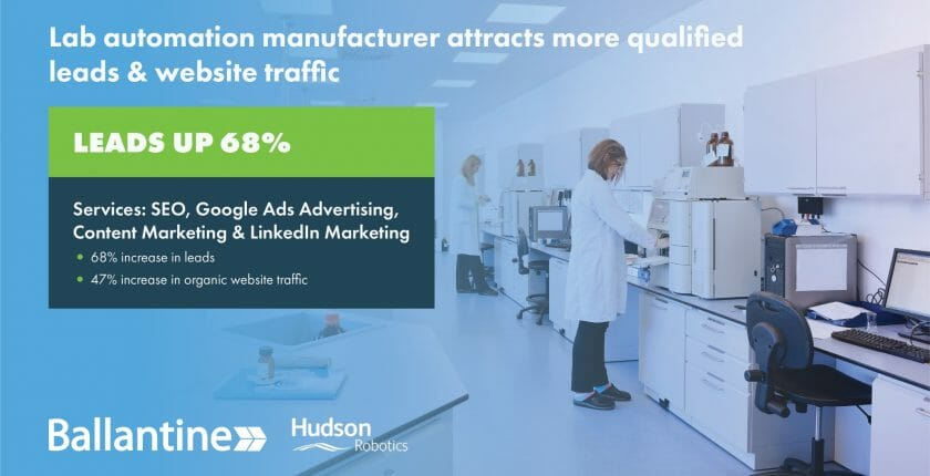 Lab Automation Manufacturer Digital Marketing Case Study